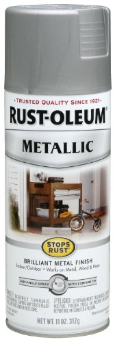 Rust-Oleum 7277830 Metallic Spray, Matte Nickel, 11-Ounce