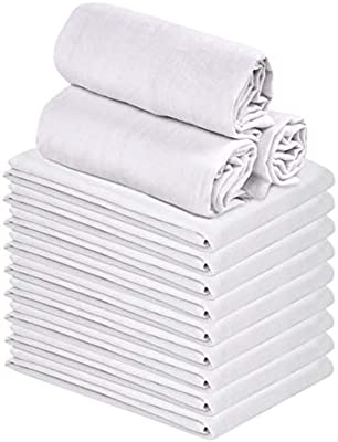 Flour Sack Kitchen Towels.Talvania Classic White Flour Sack Towels 12 Pack Of 100 Ring Spun Cotton Home Kitchen Dish Towel Soft Absorbent Dish Towels Lint Free Measures