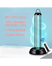 Mainstayae 38W/60W 220V UVC Ozone Germicidal Ultraviolet Lamp UV Light Timer for Kill Mites Deodorizer