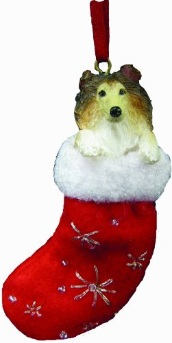 - Collie Christmas Stocking Ornament with