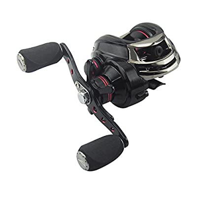 KastKing Royale Legend High Speed Low Profile Baitcasting Fishing Reel Super Smooth Dual Break System Best Baitcaster Reel with Oversized Handle Good Match For Any Baitcasting Rod