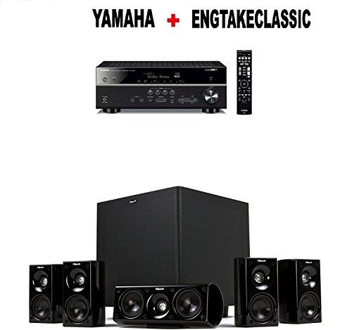 yamaha rx v585bl 7 2 channel 4k ultra hd av receiver. Black Bedroom Furniture Sets. Home Design Ideas