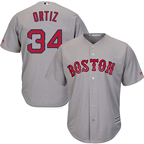 VF LSG David Ortiz #34 Boston Red Sox Jersey T-Shirt Base Player Jersey for Men Women Youth Red White Gray