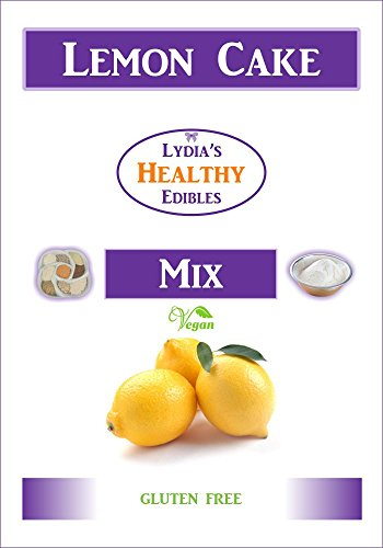 lydia's Gluten Free Lemon Cake Mix - for Cakes or Muffins - a delicious healthy snack food that can be made vegan - no soy or nuts - no additives (Soy Cake Recipe)