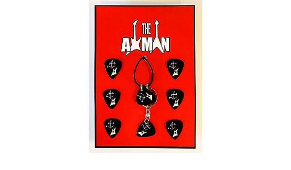 Axman James Hetfield (Metallica) - Colgante, Llavero y 6 ...