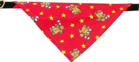 Mirage Pet Products Limited Edition Velvet Christmas Gingerbread Star Bandana Collar for Dogs, 16-Inch