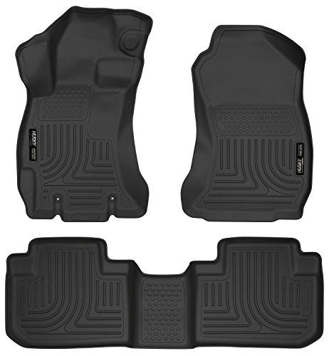 (Husky Liners 99881 Black Weatherbeater Front & 2nd Seat Floor Liners Fits 2014-2018 Subaru)