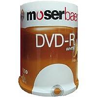 Moser Baer 16x 4.7GB DVD-R White (100 DVDs)