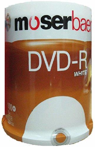 Moser Baer 16x 4 7GB DVD-R White (100 DVDs)