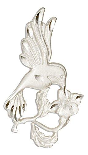 Pendant Sterling Hummingbird (Sterling Silver Flower and Hummingbird Pendant)