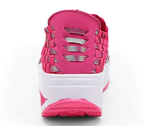 Sur Léger Glisser De Rose Femmes Marche Respirant Poids Chaussures Mode 1668 Trainers 4xtgwA7q