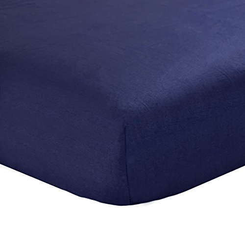 Carter's Sateen Fitted Crib Sheet, Classic Navy