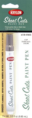 (Krylon KSCP902 Short Cuts Paint Pen, Chrome Metallic, .33 Ounce)
