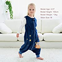 Green Octopus 1-2T MICHLEY Baby Sleeping Bag Sack with Feet Spring Winter Swaddle Wearable Blanket Sleeveless Nightgowns for Infant Toddler