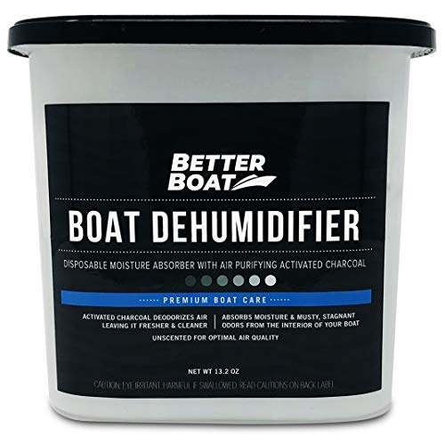 Boat Dehumidifier Moisture Absorber and Charcoal Deodorizer Remove Damp Musty Mold Smell | Basement Closet Home RV or Boating (Boat Dehumidifier)