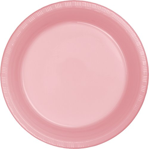 Creative Converting Touch of Color 20 Count Plastic Lunch Plates, Classic Pink -