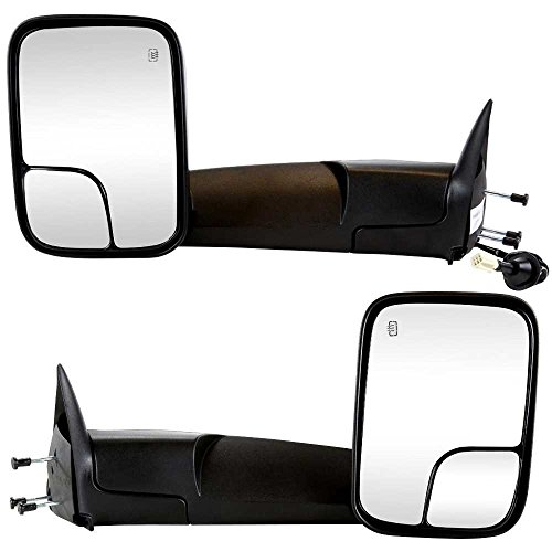 Prime Choice Auto Parts KAPCH1320307PR Pair of Right and Left Towing Power Heated Side View Mirrors (Dodge Ram Parts 1500 99)