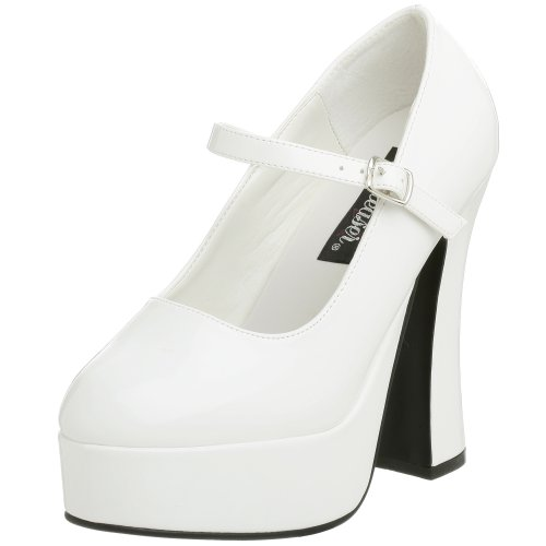 Pleaser Women's Dolly-50,White Patent,8 M (Shoes Jane Adult White)