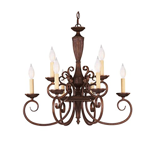 Savoy House KP-1-5007-9-40 Liberty 9-Light Chandelier in Walnut Patina ()