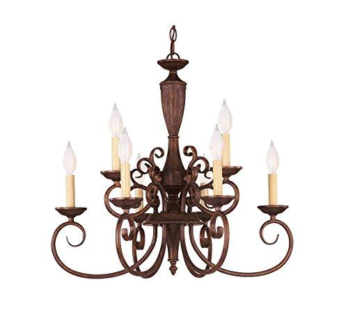 Savoy House KP-1-5007-9-40 Liberty 9-Light Chandelier in Walnut Patina ()
