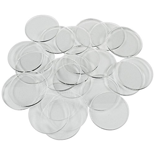 Clear Acrylic Base (1.5mm Clear Miniature Bases, Circular 30mm (25))