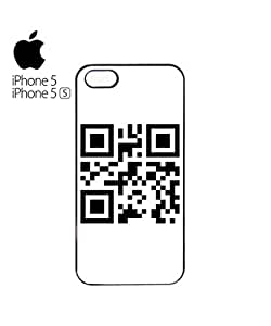 QR Code Barcode Secret Message Mobile Cell Phone Case Cover iPhone 5&5s Black