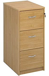 deluxe 3 drawer wood filing cabinet in beech maple oak white or walnut finish foolscap