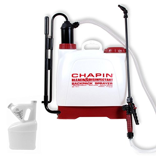 Chapin 61575 Bleach and Disinfectant Backpack Sprayer w/ 1/2 Gallon Tip N' Measure