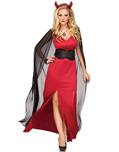 Fun World Women's Devilicious Devil Lucifer Halloween Costume, Multi, Sml/Med