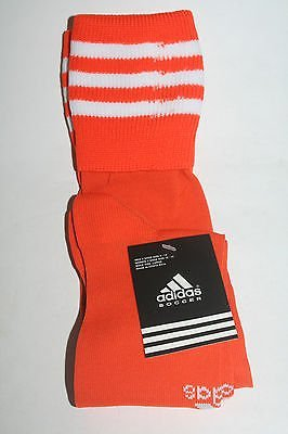b825aeb56 Image Unavailable. Image not available for. Color: Adidas Metro II Youth  Soccer Socks - SMALL Orange/White ...