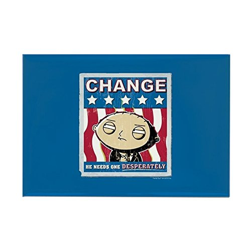 CafePress Family Guy Stewie Change Rectangle Magnet, 2