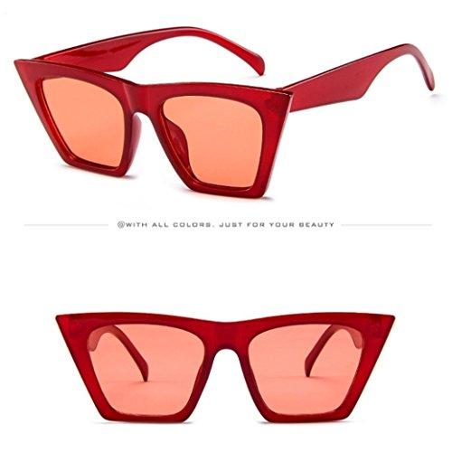 en en Sun des plein Vintage de de miroir surdimensionnées soleil sport soleil de air verres Glasses Mode de Eye Vintage Lunettes lunette lunettes Cat femme Rouge soleil de Retro URSING lunettes fq7pvwHY