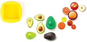 Food Huggers Kitchen Must-haves (8 Pieces)- Butter Hugger Keeps Butter Sealed and Fresh + Avocado Hugger (Set of 2) + Food Huggers Autumn Harvest (Set of 5), Dishwasher Safe Silicone/ 100% BPA Free