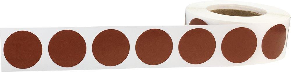 Bronze Brillant Cercle Point Autocollants 500 /Étiquettes sur un Rouleau 19 mm 3//4 Pouce Rond