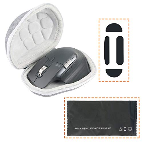 Khanka Hard Travel Case + Mouse Feet Pads Replacement for Logitech MX Master 3 Advanced Wireless Mouse