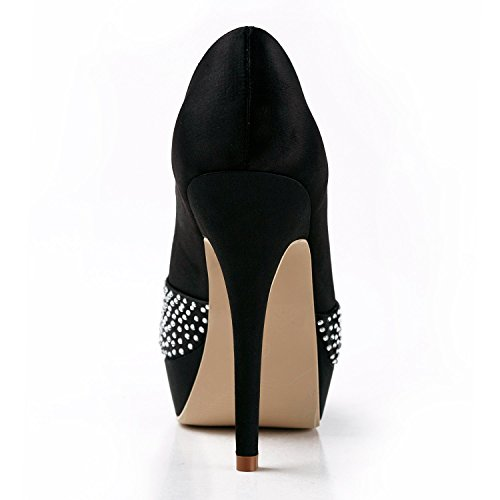 Minitoo Tacco Col Scarpe 12cm Heel Donna Black rq1rvEO