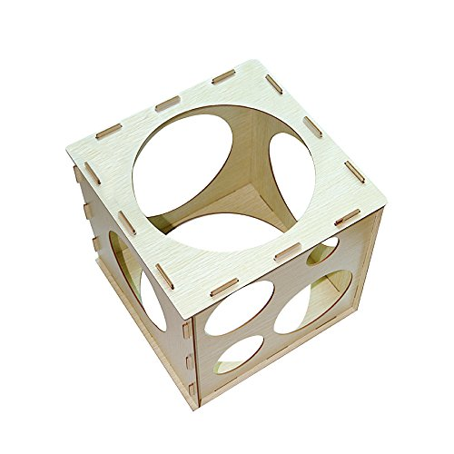 9 Holes Collapsible Wood Cube Balloon Sizer Box From 2'' - 10'' by Jioong (Image #4)