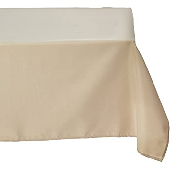 Marvelous LinenTablecloth 70 Inch Square Polyester Tablecloth Beige