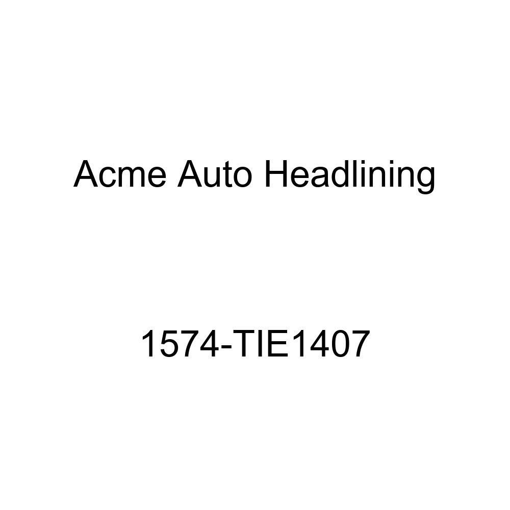 Acme Auto Headlining 1574-TIE1407 Dark Brown Replacement Headliner 1957 Pontiac Catalina 4 Door Hardtop 7 Bow, 0 Chrome
