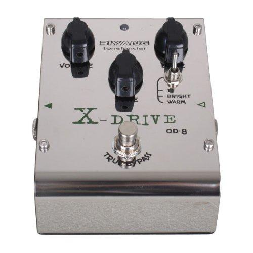 Biyang OD-8 Guitare Basse pédale d'effet X Drive Distortion Véritable bipasse