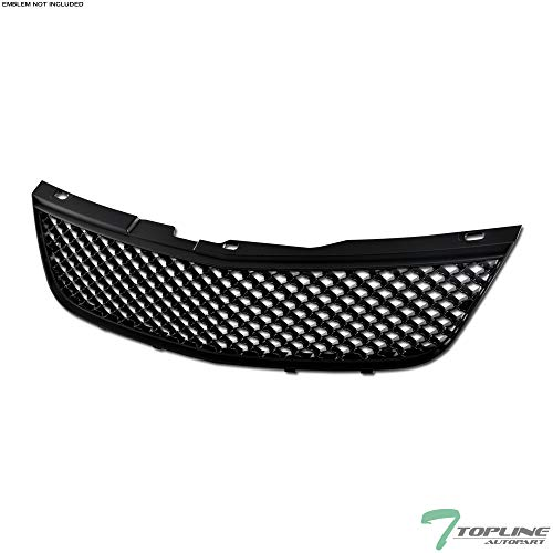 Topline Autopart Matte Black Mesh Front Hood Bumper Grill Grille ABS For 00-05 Chevy Impala