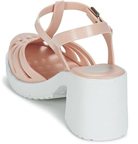 Zaxy Dream Heel Nude Bianco Donne Blocco Tacchi Sandali