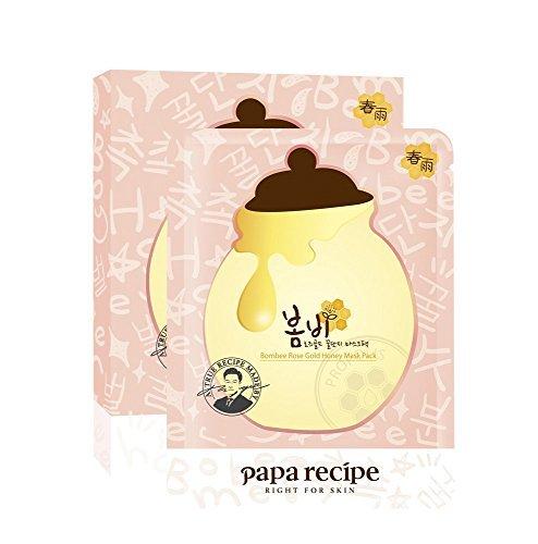 Papa Recipe Bombee Rose Gold Honey Mask Pack 5 Masks 25 ml Each