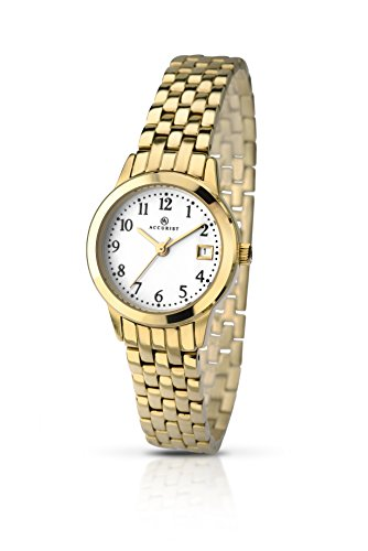 Accurist Ladies Stainless Steel Bracelet Watch with White Dial 8046.01