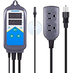 Inkbird Digital Outlet Heating Aquarium Temperature Controller ITC-306T Reptiles Heat Mat Updated Aquarium Probe