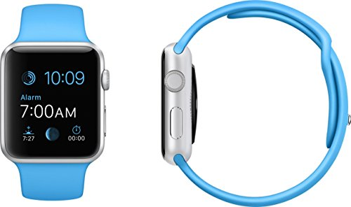 Apple Watch 42mm Silver Aluminum Case with Blue Sport Band