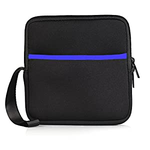 Smallcar External USB CD DVD Drive Protective Sleeve Shockproof Neoprene Carrying Sleeve Case Storage Pouch Bag with Extra Pocket Design for External Blu-Ray Drive Disc Player Hard Drive (Black)