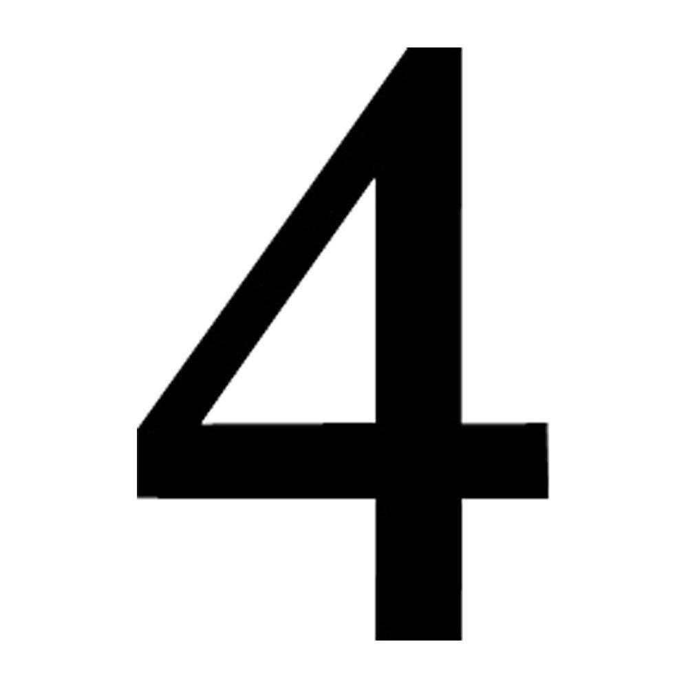 NUM-4-M Number 4 Medium 12 Inch High