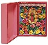 Handmade Folk Art Virgin of Guadalupe Box Retablo