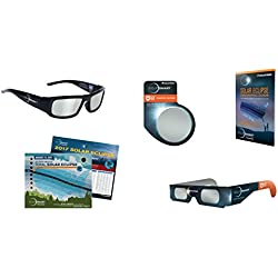 Celestron EclipSmart Ultra Solar Observing & Imaging Kit Includes ISO Certified Solar Sunglasses, Four Eclipse Viewers, Camera Solar Filter, 2017 Total Eclipse Guide & Map